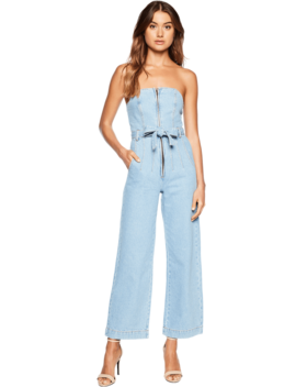 Wide Leg Denim Romper by Bardot