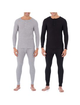 Fruit Of The Loom Big Mens Classic Thermal Henley Top, Value 2 Pack by Fruit Of The Loom