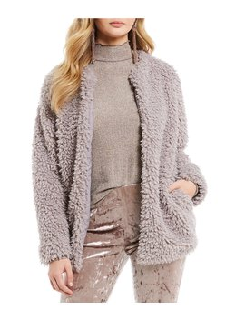 London Faux Fur Teddy Jacket by Band Of Gypsies