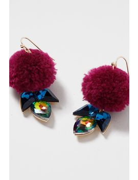 Pom Pom Drop Earrings by Topshop