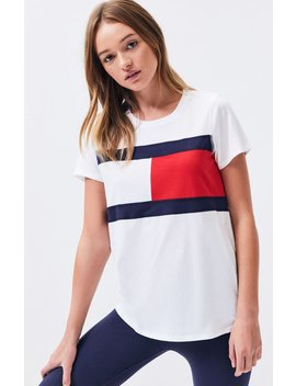 Tommy Hilfiger Logo Flag T Shirt by Pacsun
