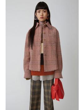 格纹衬衫 粉色/棕色 by Acne Studios