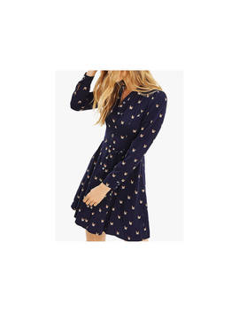 Oasis Cat Skater Shirt Dress, Blue by Oasis