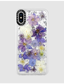 Luxe Pressed Flower Phone Case For I Phone Xs/ I Phone X   Lavender by Casetify