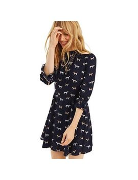 Oasis   Multi Blue Cat And Dog Skater Dress by Oasis