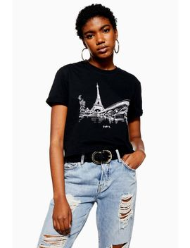 Paris Cityscape T Shirt by Topshop