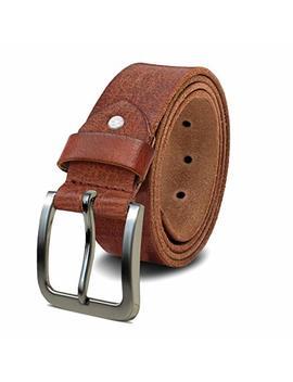 Royalz Cintura In Pelle Da Uomo In Robusto Bufalo 4mm, Vintage Per Jeans Da Uomo Con Fibbia Spinosa In Pelle 38mm by Royalz
