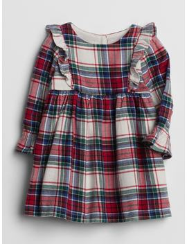 Plaid Cascade Ruffle Dress by Gap