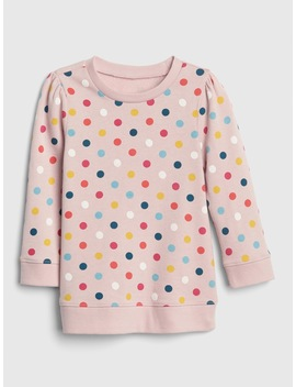 Dot Long Sleeve Tunic Sweatshirt by Gap