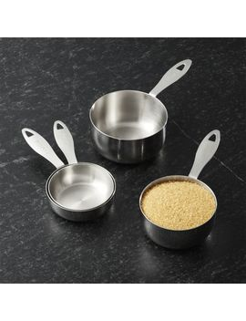 Stainless Steel Odd Size Measuring Cups, Set Of 4 by Crate&Barrel