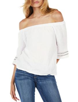 Double Gauze Off The Shoulder Top by Michael Stars