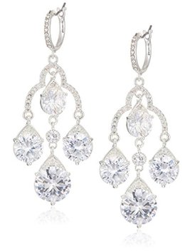 Anne Klein Women's Silver Tone Chandelier Drop Earrings, Silver Tone, One Size by Anne+Klein