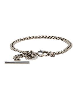 Silver Chain Bracelet by Alexander Mcqueen