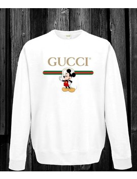 Gucci  Mickey Mouse Unisex Sweatshirt by Etsy