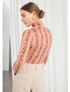 Long Sleeve Squiggle Print Turtleneck by & Other Stories