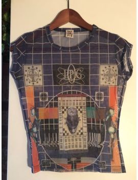 Jean Paul Gaultier Jpg Mesh Sheer Top Shirt Science Print by Jean Paul Gaultier