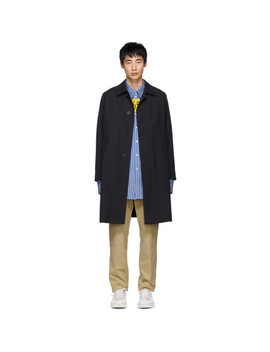 Navy Wool Gustav Coat by Boss