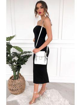 Simplicity Midi Dress Black by White Fox