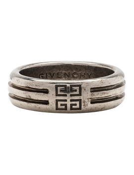 Silver 4 G Double Row Ring by Givenchy
