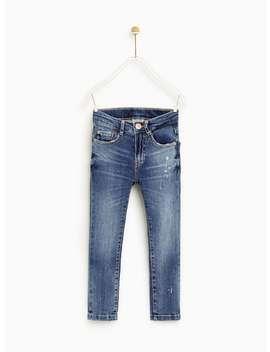 Skinny Jeans With Zip Detail  Jeansboy by Zara