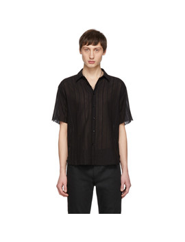 Black Open Seam Shirt by Saint Laurent