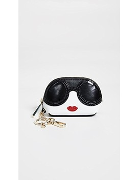 Ruby Stace Face Domed Pouch by Alice + Olivia