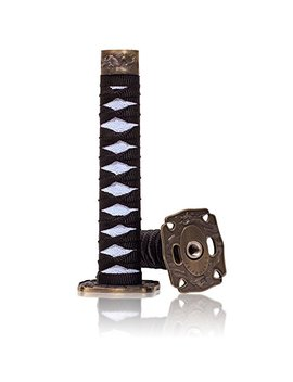 Kei Project 8 Inch Katana Samurai Sword Shift Knob Shifter Katana Vip Metal Weighted With Adapters Fits Most Cars (Black/White) by Kei Project