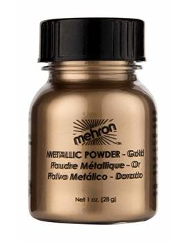Mehron Makeup Metallic Powder (1 Oz) (Gold) by Mehron