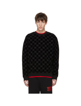 Black Racing Check Swallow Sweatshirt by Mcq Alexander Mcqueen