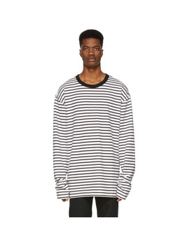 Black & Off White T Daichi Long Sleeve T Shirt by Diesel