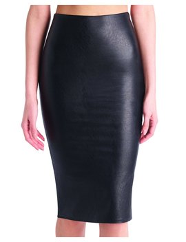 Faux Leather Midi Skirt by Commando