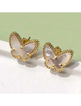 New Brand Pure 925 Sterling Silver Jewelry For Women Butterfly Earrings Small Heart Earrings Cute Fashion Party Silver Jewelry by Lukastiel