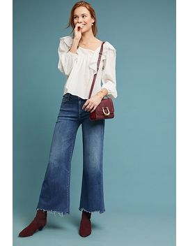 Mother The Roller High Rise Cropped Fray Jeans by Mother