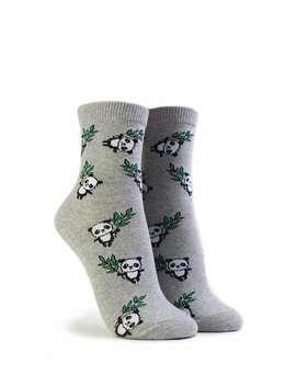 Panda Print Crew Socks by Forever 21