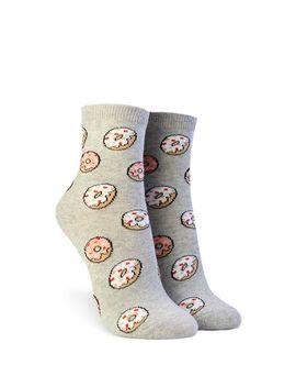 Donut Print Crew Socks by Forever 21