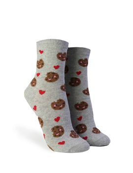 Heart & Chocolate Chip Cookie Print Crew Socks by Forever 21
