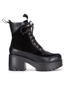 Mars Mixed Panel Chunky Boots by Koi Footwear