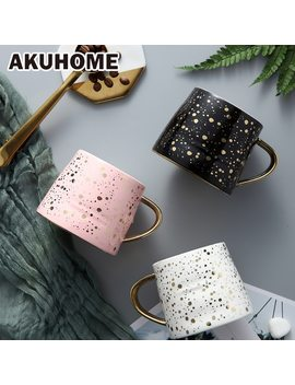 Ceramic Coffee Mug Milk Cup Drinkware Starry Sky Pattern Teacup Simple And Creative    Mugs Akuhome by Akuhome