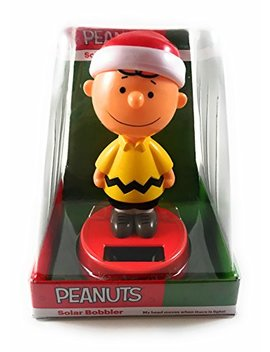 Peanuts Charlie Brown Christmas Solar Bobbler by Peanuts
