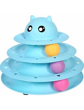 Upsky Cat Toy Roller Cat Toys 3 Level Towers Tracks Roller With Three Colorful Ball Interactive Kitten Fun Mental Physical Exercise Puzzle Toys by Upsky