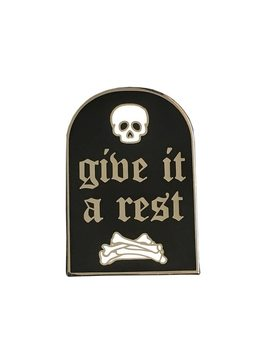 Gravestone Goth Hard Enamel Pin Badge by Keshegans