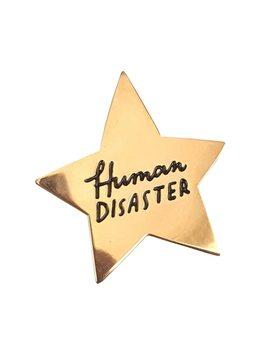 Human Disaster Enamel Pin by Gu De Ke