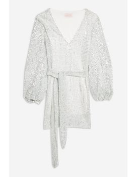 **Silver Sequin Plunge Mini Dress By Club L by Topshop