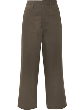 Cropped Cotton Blend Canvas Flared Pants by Bassike