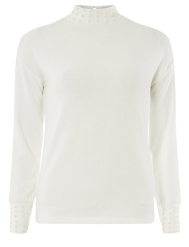 Petite Brushed Pearl Ivory Top by Dorothy Perkins