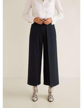 Pantaloni Culottes Cu Pliuri by Mango