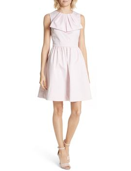 Bow Front Poplin Fit & Flare Dress by Ted Baker London