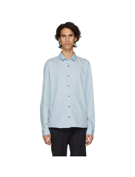Blue Poplin Slim Shirt by Hugo
