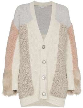 Faux Fur Patchwork Cardigan by Stella Mc Cartney