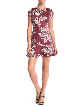 Floral Ruffle Cap Sleeve Dress by Love...Ady